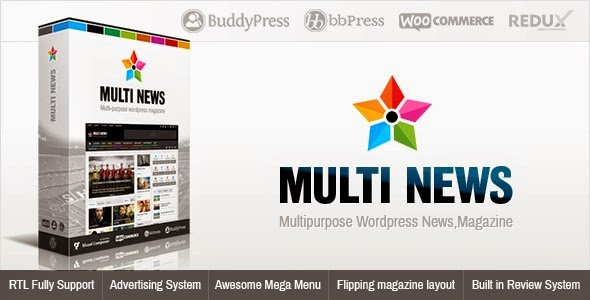 Multinews Multi-purpose WordPress News, Magazine