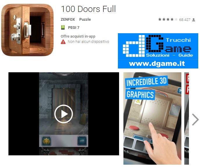 Soluzioni 100 Doors Full Livello 91 92 93 94 95 96 97 98 99