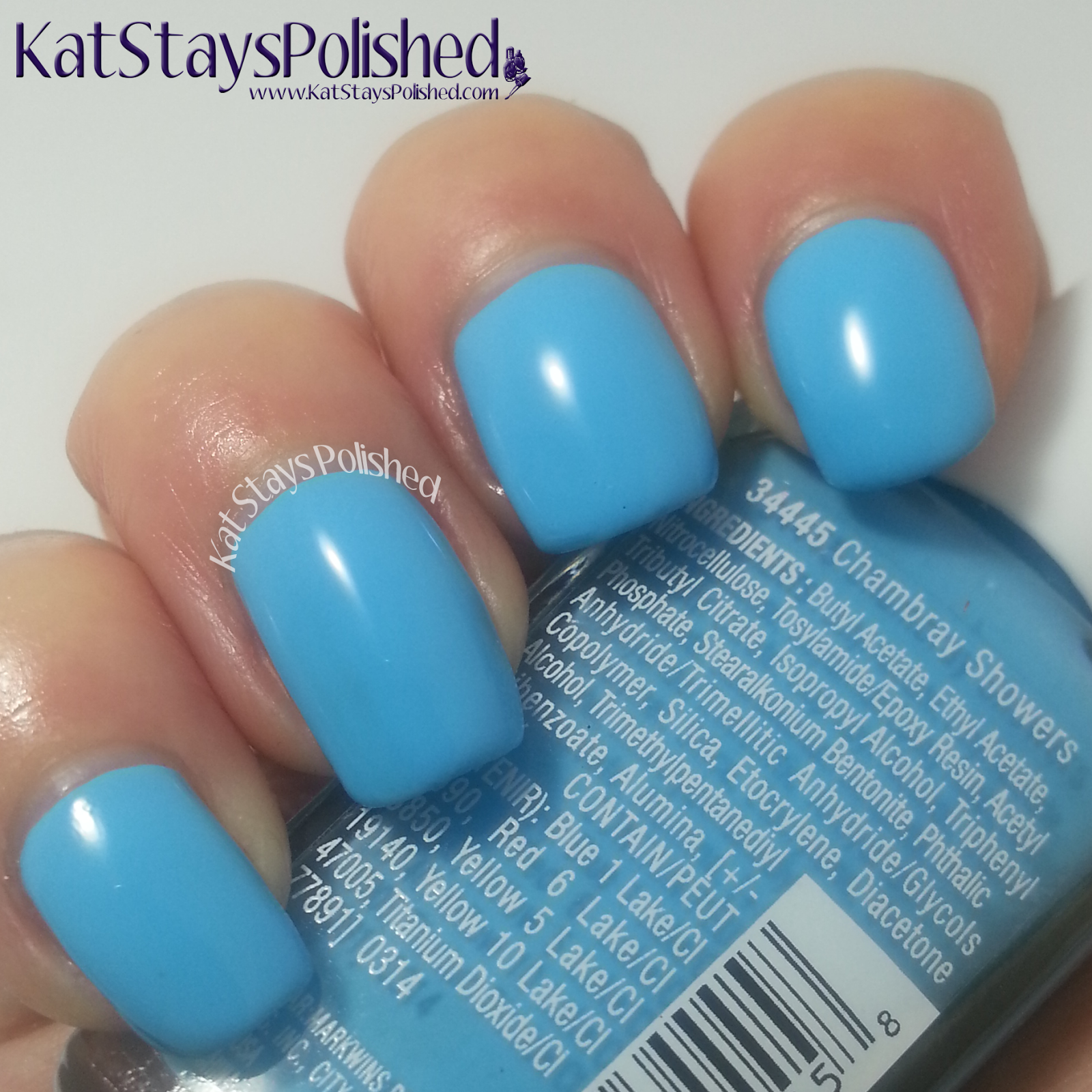 Wet n Wild Summer Festival Nail Color - Chambray Showers | Kat Stays Polished
