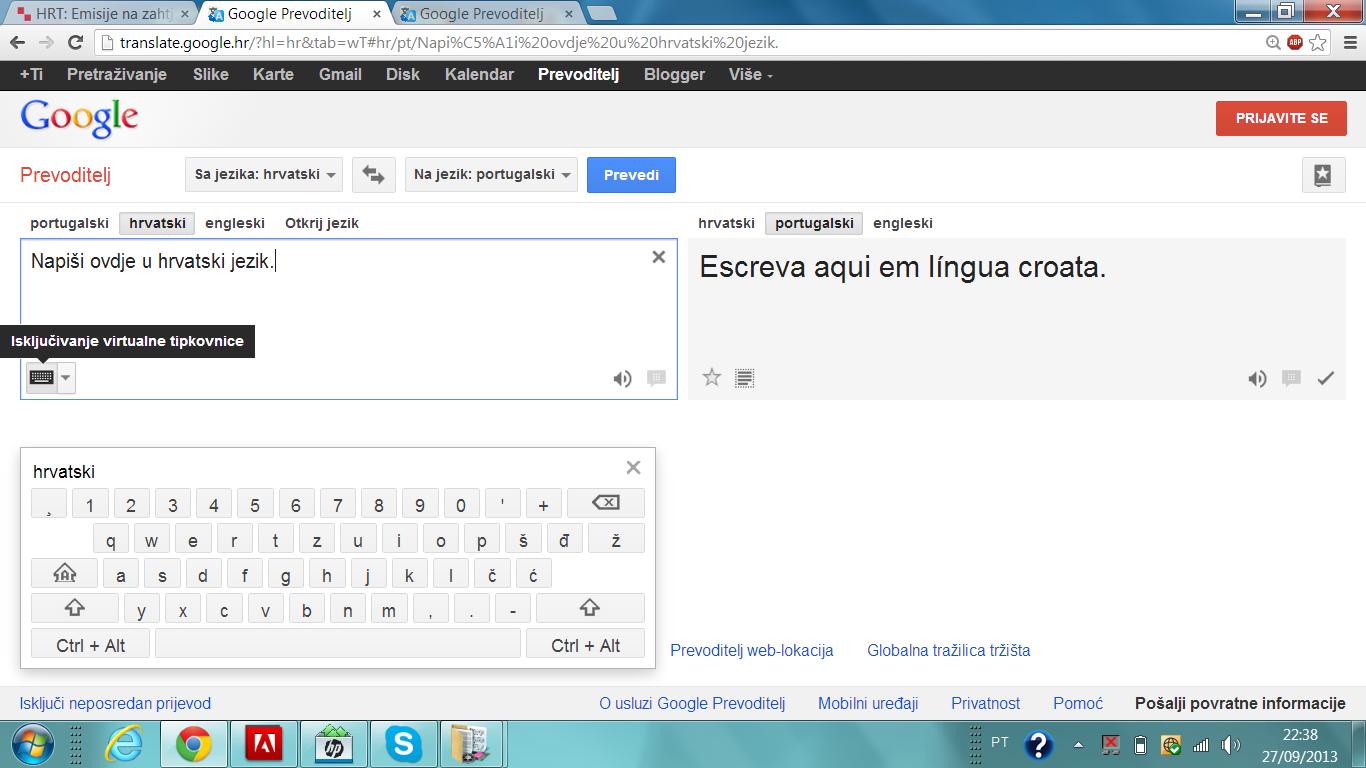 Aprendendo Croata Prevoditelj Google