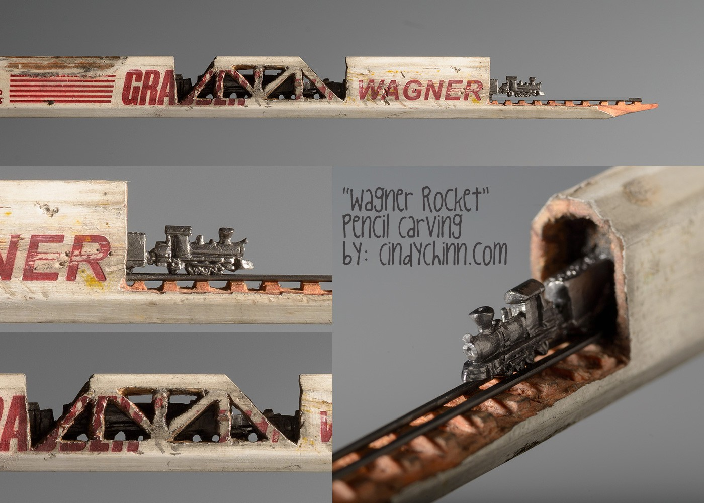 17-Wagner-Rocket-Train-Cindy-Chinn-Miniature-Carvings-of-Pencil-Graphite-www-designstack-co