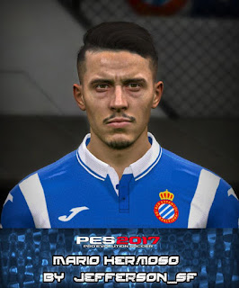 PES 2017 Faces Mario Hermoso by Jefferson_SF