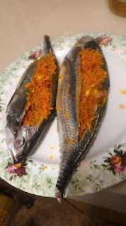 Resepi Ikan Cencaru Sumbat Kelapa