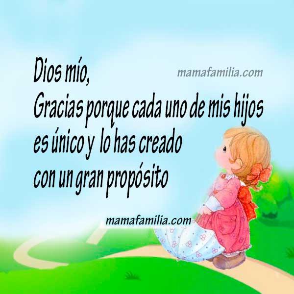 Oración por los hijos, Dios los bendiga, oraciones bonitas por la familia por Mery Bracho.