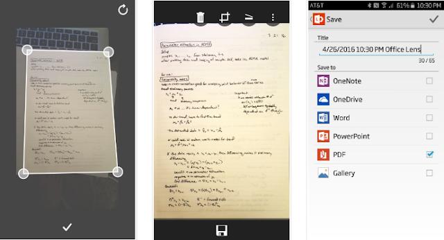 تطبيق Office Lens يدعم الآن التعرّف على خط اليد