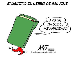 salvini, libro, secondo Matteo, satira, vignetta
