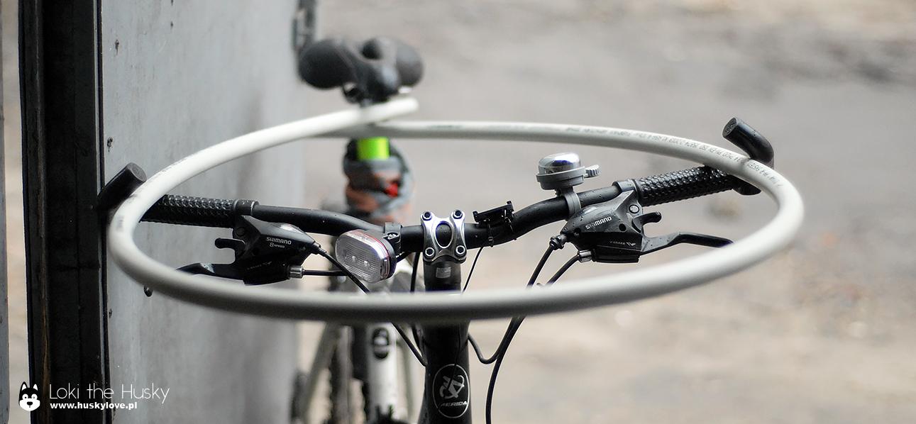 Przymiarka rurki PCV do kierownicy roweru