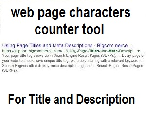 Webpage Title and Meta Description Characters Counter Tool