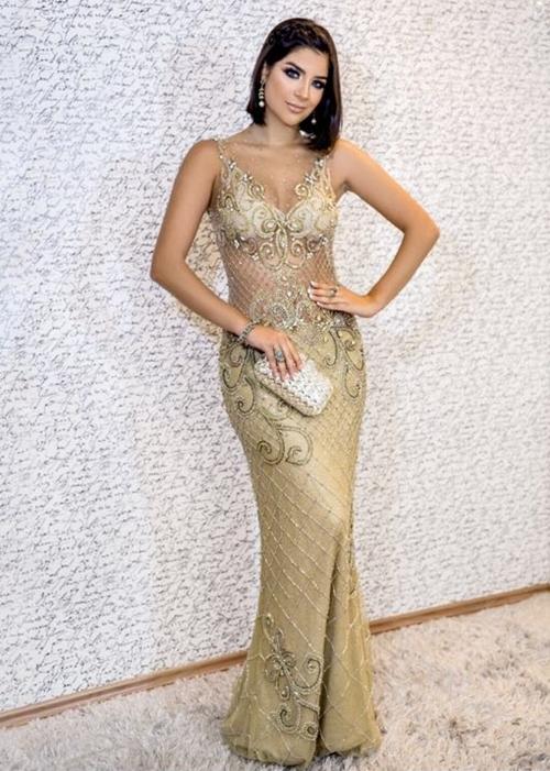 vestido dourado formatura