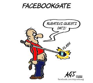 facebook, facebookgate, dati sensibili, privacy, umorismo, comportamenti sui social, vignetta, satira