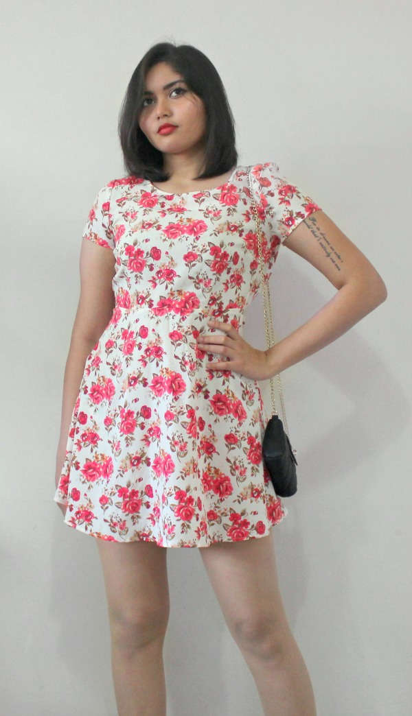 Rose Floral dress Forever21