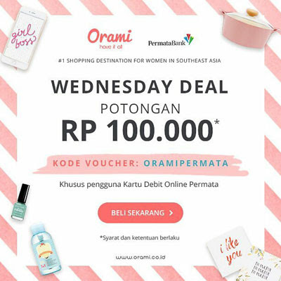 Wednesday Deal Orami – Bank Permata
