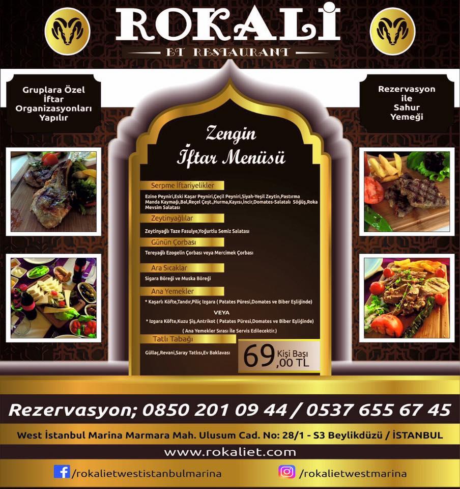 rokalı et restaurant beylikdüzü istanbul iftar menüsü