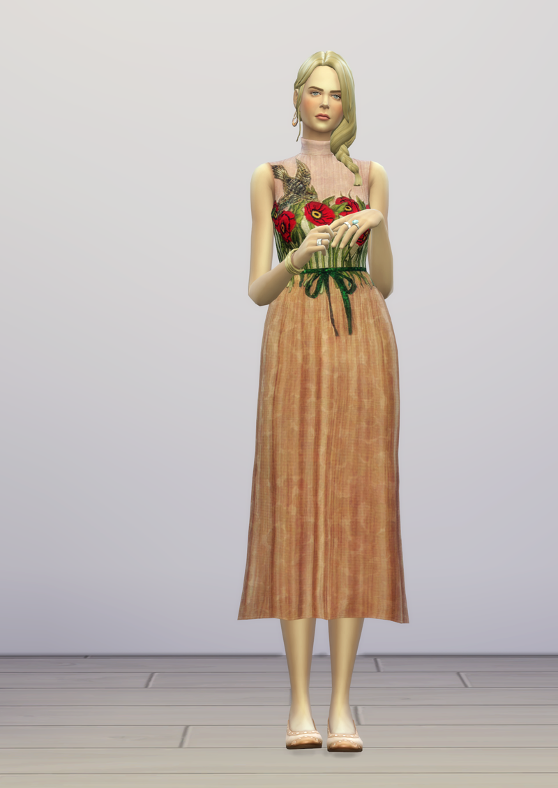 My Sims 4 Blog Gucci Dress By Rusty Nail