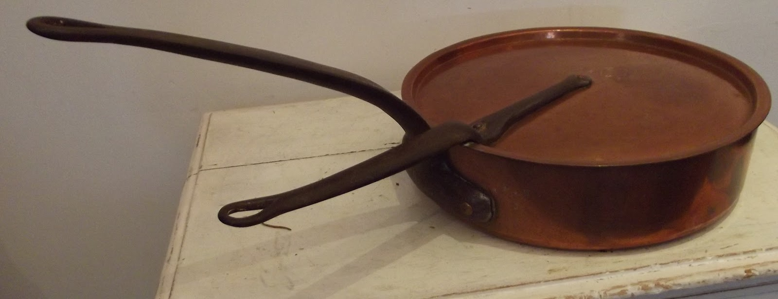 ancienne casserole cuivre tam estampill duval pw couvercle poign es. Black Bedroom Furniture Sets. Home Design Ideas