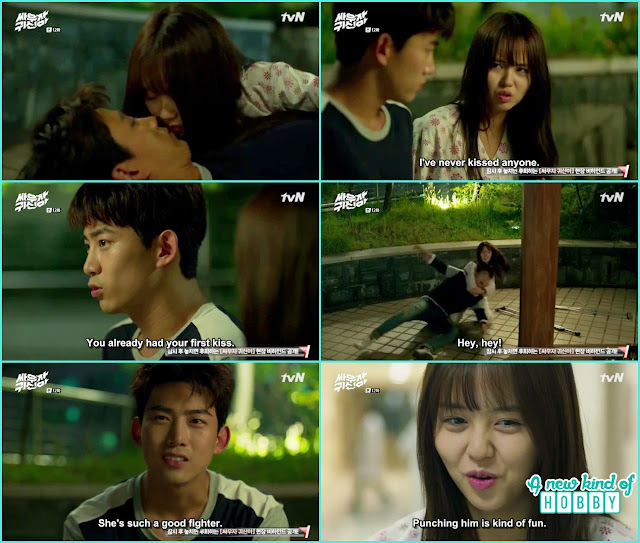 bong pal and hyun ji nearly to kiss again - Let's Fight Ghost - Episode 12 Review