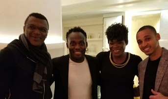 Ex Football Stars, Odemwingie, Mercy Udoh And Michael Essien In Adorable Photo