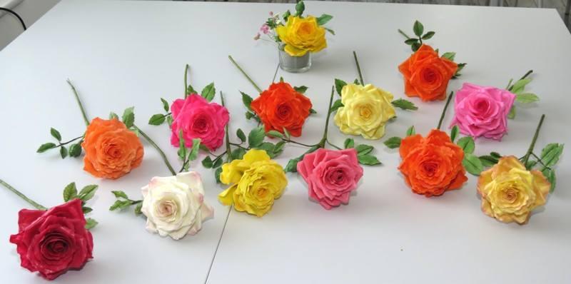 gumpaste rose Kurs class Zuckerblumen