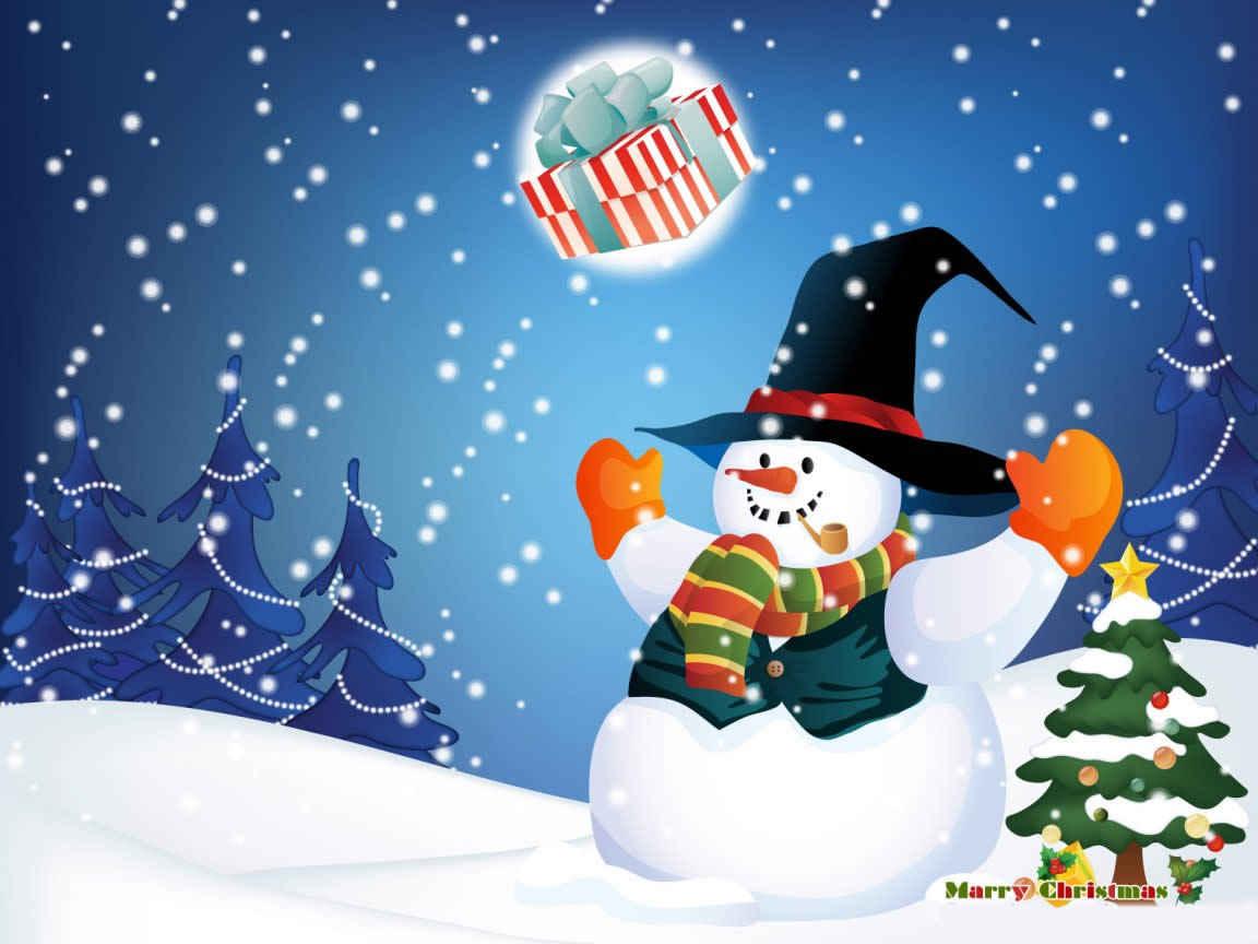 Fondos Pantalla Animados De Navidad: Fondos De Navidad Con Nieve Para El Escritorio Gratis