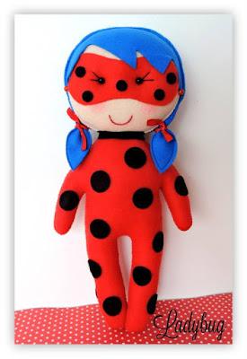 """alt=""""molde ladybug miraculous em feltro"""""""