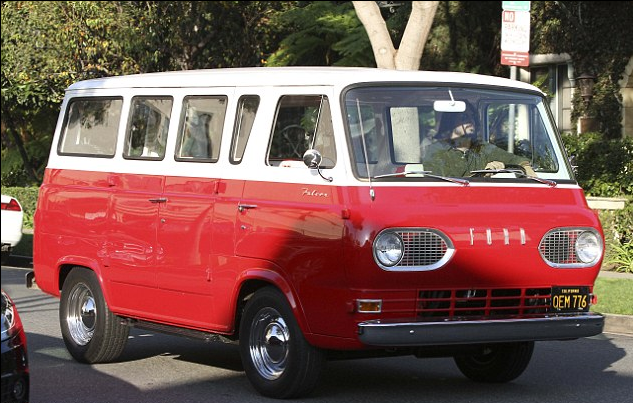 Dave Grohl driving his Ford Falcon Kombi van