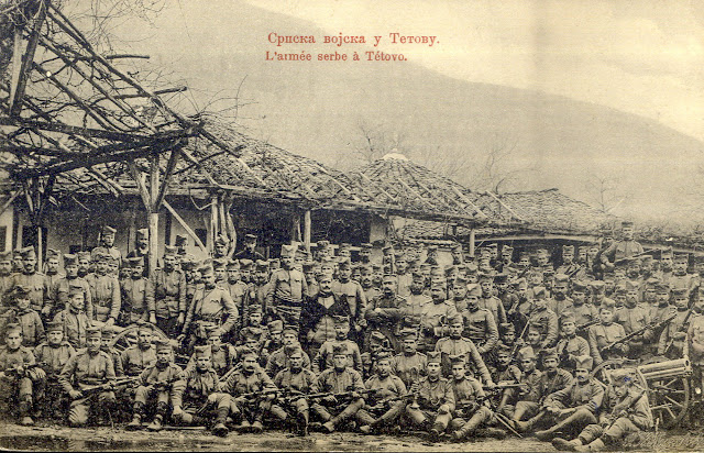 Serbian soldiers in Tetovo during the First Balkan War