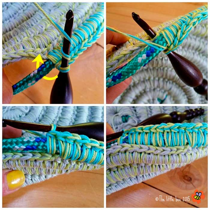 Patrones crochet - Cesta de cuerda y ganchillo ...