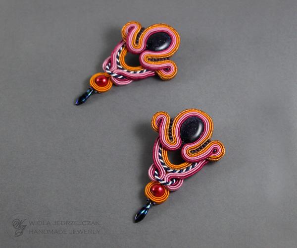 Handmade, soutache, earrings, Colorful, jewelry, Handcraftrd, jewelry, Stylish, luxury,