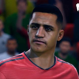 FIFA 19 Faces Alexis Sánchez by CrazyRabbit