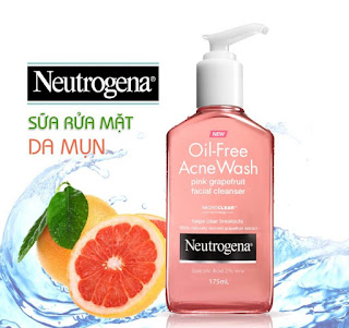 Cách sử dụng sữa rửa mặt Neutrogena Oil Free Acne Wash