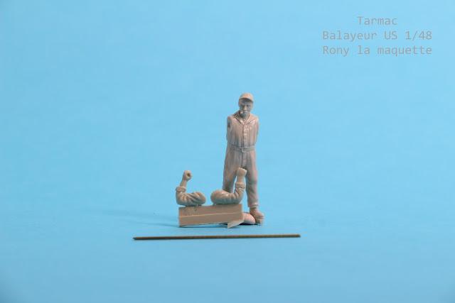 Figurine balayeur US  Tarmac 1/48