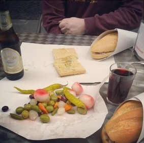 Typical lunch in Villalobos