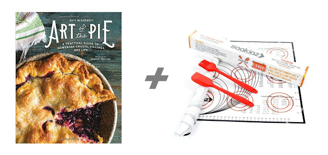 Art of Pie: A Practical Guide to Homemade Crusts, Fillings, and Life by Kate McDermott + a Silicone Pastry Baking Mat set