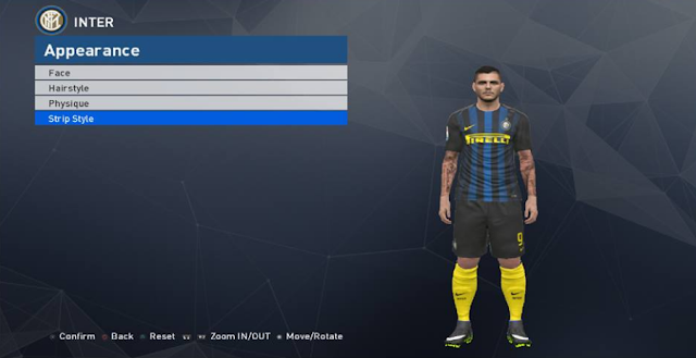 PES 2017 349 Tattoo Pack Hau Armani FIX