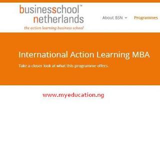 International Action Learning MBA Programme Scholarship 2018