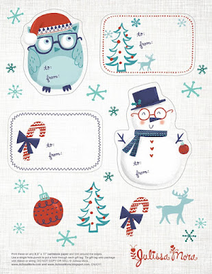 Christmas gift tag Etiqueta Navidad Julissa Mora