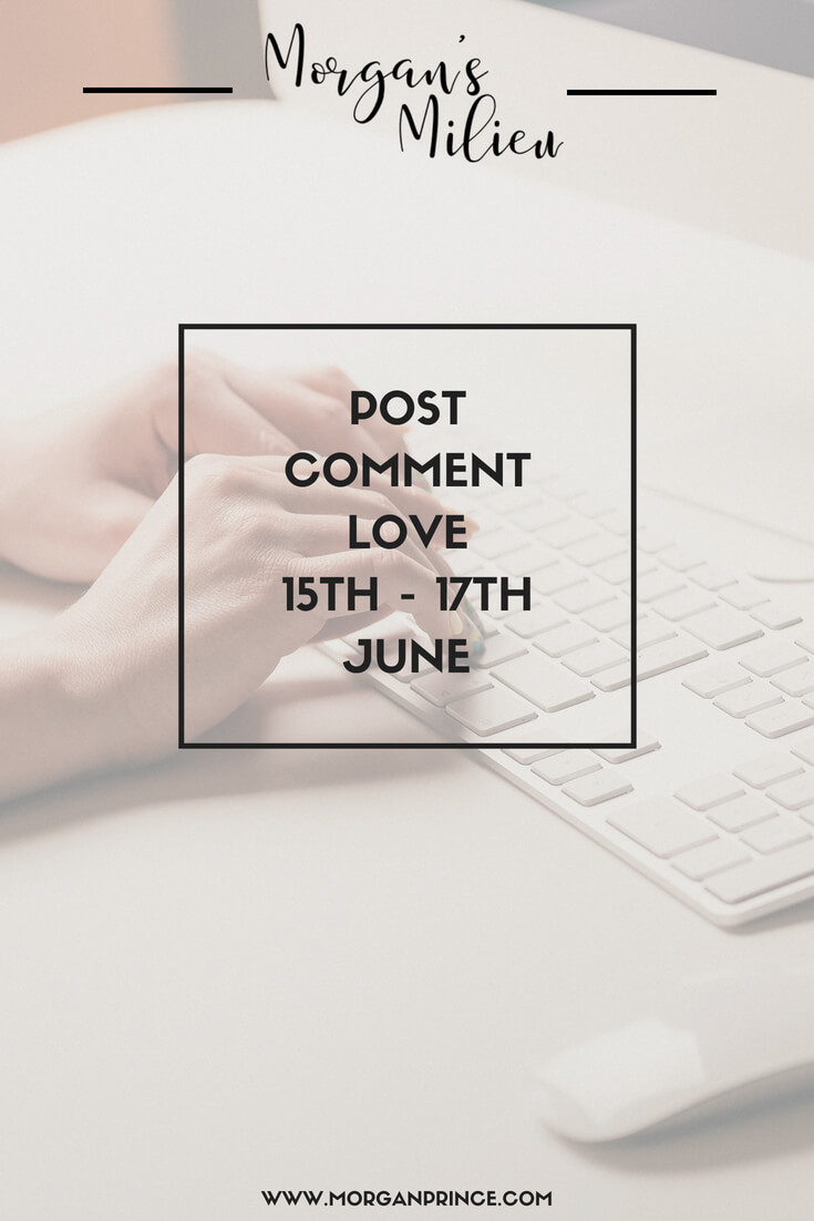Join Stephanie and I for Post Comment Love this weekend.