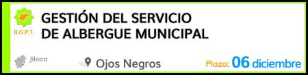 Gestión del Servicio de Albergue Municipal en Ojos Negros