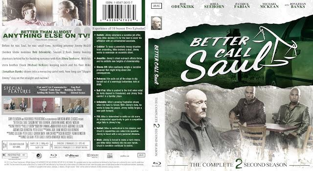 Better Call Saul Season 2 Bluray Cover