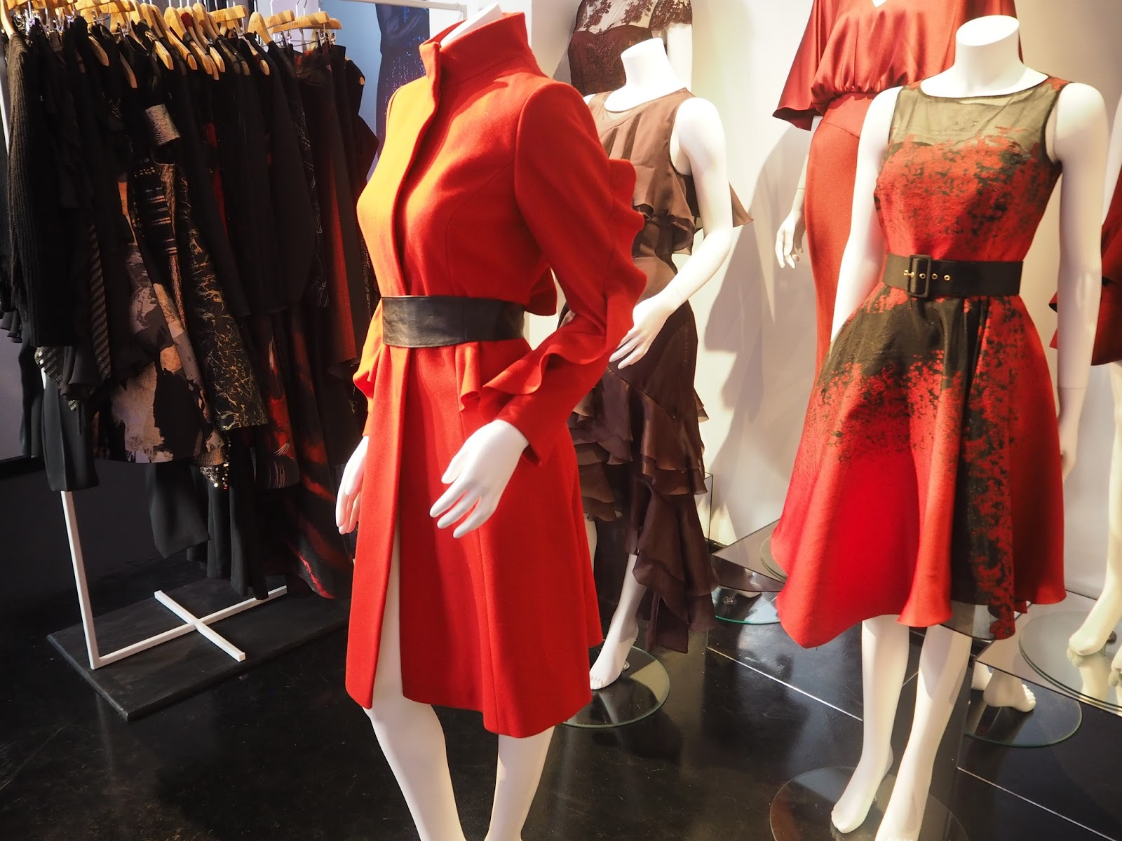 What-Lizzy-Loves-Coast-Press-Day-AW17-red-coat-statement-sleeves-dresses