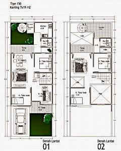 gambar denah rumah tipe 150 1