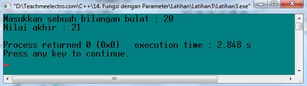 Latihan 3. Menggunakan fungsi berparameter masukan