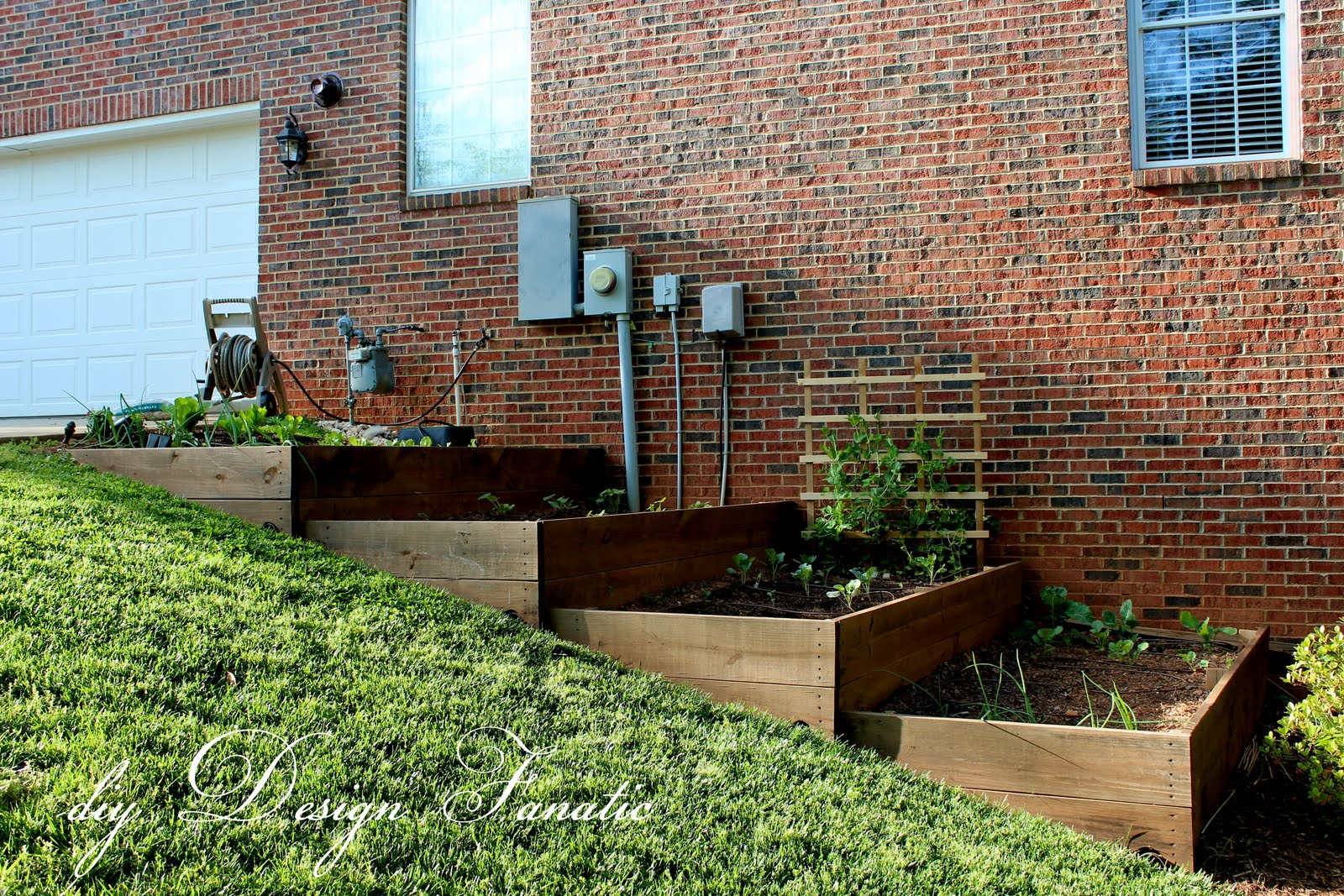 Raised Beds On A Slope Vegetable Garden Building Project Diydesignfanatic