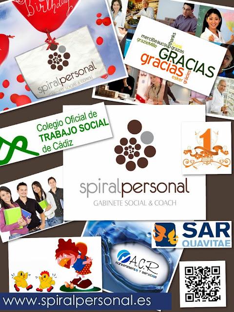 Estamos de 1º Aniversario en Spiral Personal.Gabinete Social & Coach.