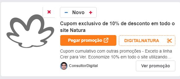 Cupom exclusivo de 10% de desconto em todo o site