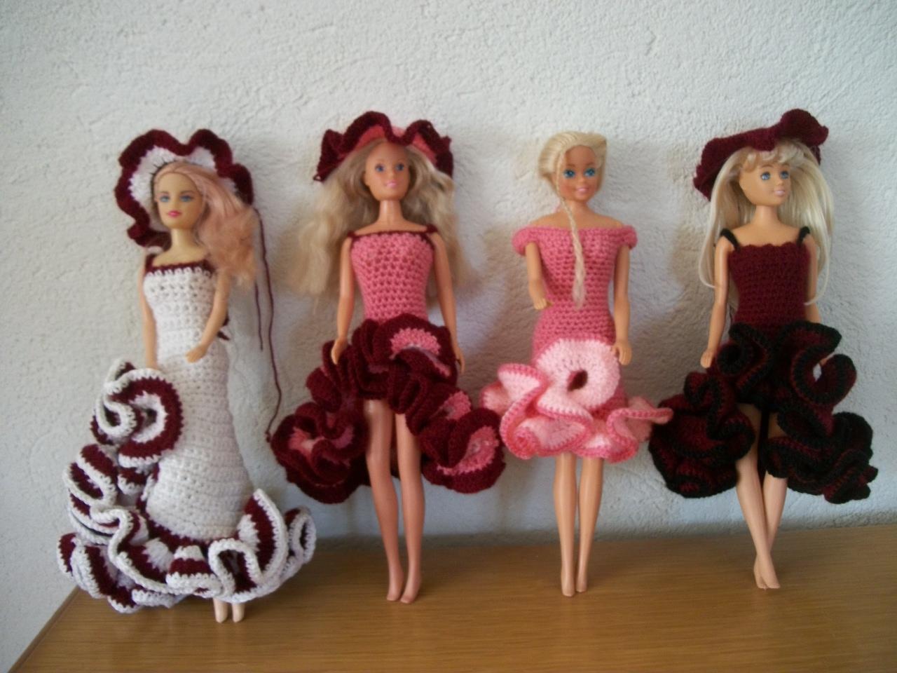 Barbie Jurkjes Breien En Haken Varianten Flamingo Jurk Haken
