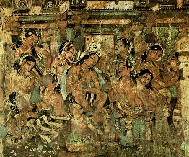Ajanta cave painting 2-  Janaka Jataka