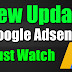 New Update In Adsense Account Must Watch 2019