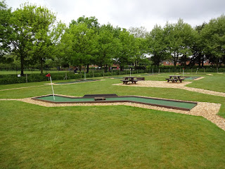 Crazy Golf course at Eaton Park in Norwich