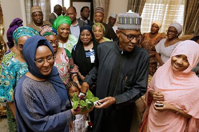 'You can name the cabals in my government' - Buhari tells wife